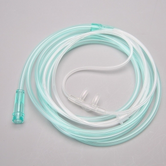 Disposable soft touch nasal oxygen cannula